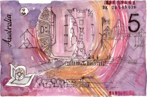 Australia Banknote Sketch