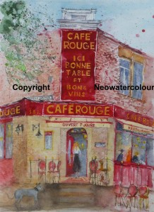 Eddie goes to the Cafe Rouge